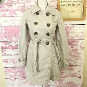 OLD NAVY Beige Double Breasted Trench Coat XS